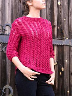 Hand knitted sweater Beach sweater Summer sweater Women's