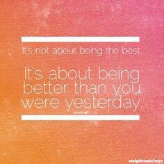 be a better me each day!