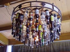 Neat!  Here's an idea for all those beer bottles my husband throws away HAHA!