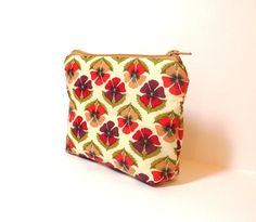 Small Zipper Pouch Small Wallet Cosmetic by handjstarcreations, $8.50
