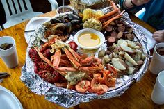 The Crab Shack, Tybee Island, GA - Low Country Boil
