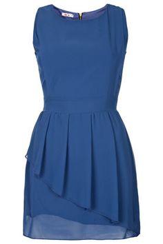 **Peplum Chiffon Dress by Wal G