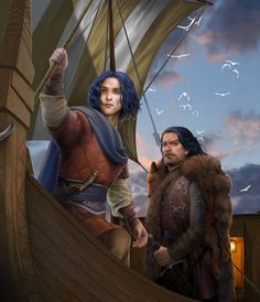 Griff and Aegon: Great ASOIAF Illustration by steamey
