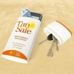 For the beach or pool. Wash out an existing container and store phone, keys etc.