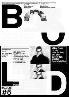 BOLD #5 — A2 Poster (white silkscreen print over the BOLD #4 Poster)