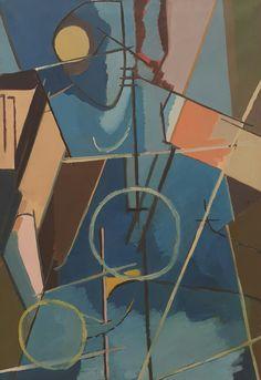 Espacio azul.  Richard Mortensen.  Galería Nacional de Dinamarca
