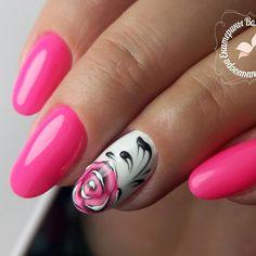 nailsoftheday.com #маникюрдня #ногти #гельлак #дизайнногтей #идеидляманикюра #мастерманикюра #nailмастер #gelpolish #nails #маникюр #яркийманикюр #цветок #роспись