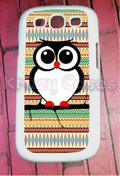 Samsung Galaxy S3 Case, Owl with aztec Pattern..finally a case for my phone on pinterest! Everything is for the iphone