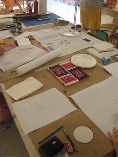 How To: Print on Fabrics Using Freezer Paper Stencils I Heart Art Baltimore