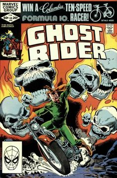 Cover for Ghost Rider (Marvel, 1973 series) #65 . February 1982  __ LXI __
