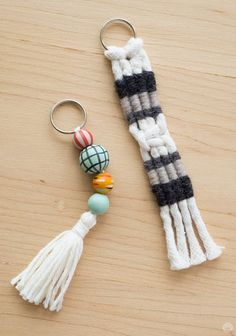 What a great back to school idea! Macramé and tassel keychains are a fun, colorful DIY project that are the perfect complement to your kid's keys. Follow this macramé tutorial from Think.Make.Share to learn how to make these easy keychains.