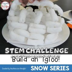STEM Challenge: Heres another great way to integrate winter studies with a terrific STEM challenge!This Snowman Challenge may be purchased as part of a money-saving bundle!This challenge is to build a model of an igloo. What sets this task apart is the building materials.