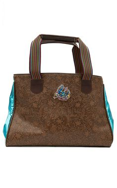 Consuela Brown Tooled Glamity Grande Tote