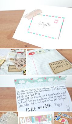 Great idea for a little gift to include in mail art