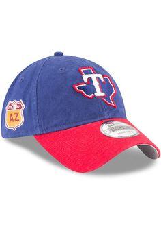 New Era Texas Rangers Mens Blue 2017 Spring Training 9FORTY Adjustable Hat  Texas Rangers Apparel cb7f96686