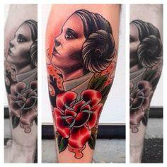 Princess Leia Star Wars Tattoo @saintmatthewtatto Found on Instagram.