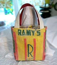 Tote Bag from Vintage Ramy's Brand Seed Sack