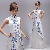 Tradicional Chinese Wedding Dress White