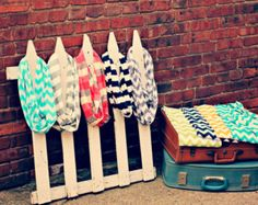 What a fun spring scarf display!
