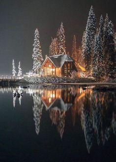 Emerald Lake lodge, Yoho National Park (B.) Emerald Lake lodge, Yoho National Park (B. Beautiful World, Beautiful Places, Beautiful Scenery, Simply Beautiful, Wonderful Places, Emerald Lake, Winter Scenery, Snow Scenes, Winter Beauty
