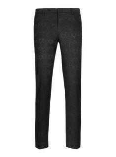 ***BLACK Jacquard Skinny Trousers