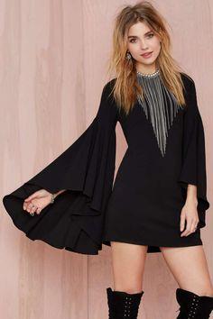 Nasty Gal Hells Bells Crepe Dress | Shop Clothes at Nasty Gal