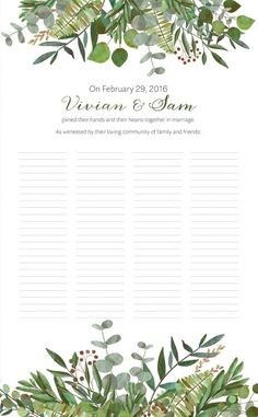 The Good Earth Botanical Wedding Certificate features a verdant burst of botanical illustrations and celebrates the joyful bounty of summer. Wedding Certificate, Marriage Certificate, Certificate Design, Botanical Illustration, Digital Illustration, Wreath Watercolor, A Day To Remember, Nature Tree, Botanical Wedding
