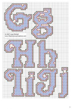 Alphabet Letters Cursive G-J