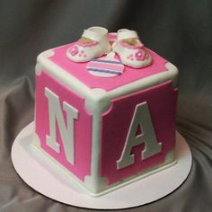block cake for baby shower