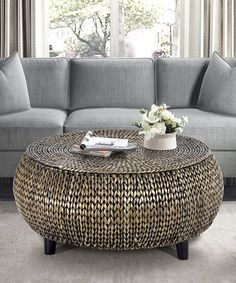 82835e699b31 Silver Patina Low Round Accent Table  zulilyfinds Home