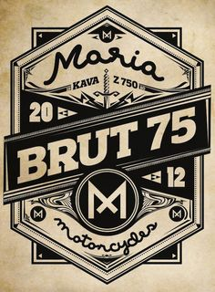 Once New Vintage Typography - Maria Motorcycles