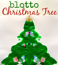 blotto christmas tree craft for kids