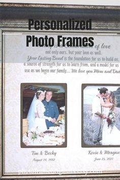 Personalized Wedding Photo Picture Frame for Parents