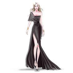 Design by Veronika Akhmatova . Diy Fashion Drawing, Fashion Drawing Tutorial, Fashion Figure Drawing, Fashion Design Sketchbook, Fashion Drawing Dresses, Fashion Illustration Dresses, Fashion Design Drawings, Fashion Sketches, Dress Design Drawing