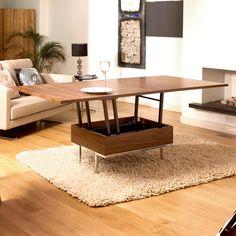 Convertible coffee table walnut