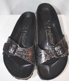 Birkenstocks Papillio Black & Silver Floral Sandals 39 8.5-9 #Birkenstocks #Papillio