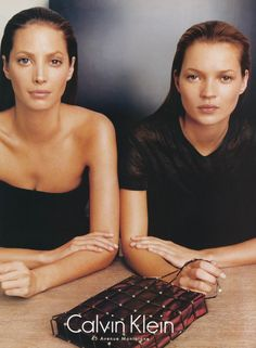 Kate Moss and Christy Turlington for Calvin Klein during the 90s http://www.dazeddigital.com/fashion/article/18032/1/top-10-early-kate-moss-moments