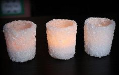 Снежные новогодние подсвечники своими руками фото 4