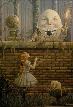Humpty Dumpty meets Alice in Wonderland