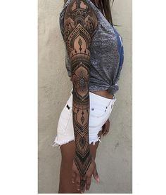 Just finished up this ornamental sleeve on @giovannatonzillo . @soular_tattoo_maui #blackworkerssubmission #blacktattoomag #blacktattooart #mandalatattoo #mandala #geometrychaos #blxckink #blackwork #geometrictattoo #tattooworkers #equilatera #ornamentaltattoo #ornamentalika  #tattoo #girlswithtattoos #fullsleeve #sleevetattoo