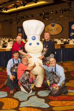 Five of the 100 finalists at the 45th Pillsbury Bake-Off® Contest are men!