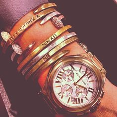 Around The Office: Jewelry buyer Melissa wearing a @MichaelKors watch and personalized... | Use Instagram online! Websta is the Best Instagram Web Viewer!