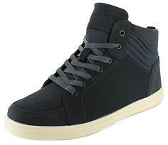 Neu Herren/Herren Marineblau Crosshatch Borneo Hi-Tops Schnürbar Schuhe Marineblau - UK GRÖßEN 7-12 - http://on-line-kaufen.de/crosshatch/neu-herren-herren-marineblau-crosshatch-borneo-7