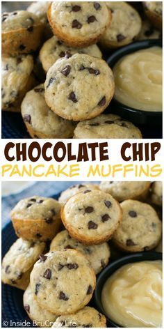 These easy chocolate chip pancake muffins will save you time for breakfast. Keep a bag in the freezer for busy mornings.