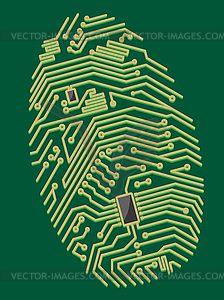 Futuristic Computer : Color motherboard fingerprint for security or computer concept design Circuit Board Design, Social Media Art, Computer Chip, Stoff Design, Chip Art, Robot Concept Art, Free Vector Art, Body Art Tattoos, Dope Tattoos