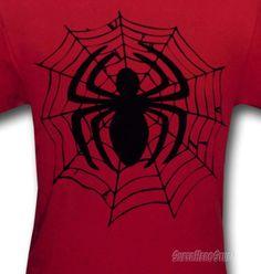 Images of Spiderman Webbed Symbol Kids T-Shirt
