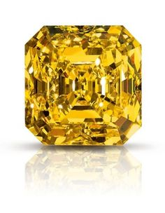 The Delaire Sunrise (118.08 carats), the largest square emerald cut Fancy vivid yellow diamond in the world.Photo: Supplied