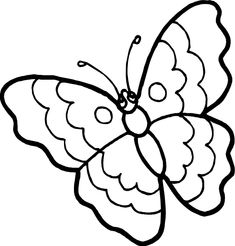 Printable Geometric Butterflies Coloring Pages   butterfly-coloring-pages2.gif