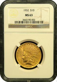 $10 Indian Gold Coin NGC/PGCS MS-63