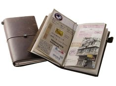 Cool Travel Notebooks That'll Make You Want to Put Away Your Phone from Conde Nast Traveler - Midori Traveler's Notebook